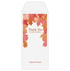 Ready-to-Ship Drive Up Envelopes - Thank You For Your Business - Autumn Leaves