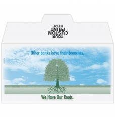 Ready-to-Ship Drive Up Envelopes - We Have Our Roots - Tree - w / 1 Color Custom Print