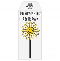 Ready-to-Ship Drive Up Envelopes - Just A Smile Away - Flower - w / 1 Color Custom Print