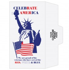 Ready-to-Ship Drive Up Envelopes - Patriotic - Statue of Liberty - w / 1 Color Custom Print
