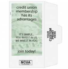 Ready-to-Ship Drive Up Envelopes - Credit Union Membership - Money - w / 1 Color Custom Print