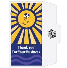 Ready-to-Ship Drive Up Envelopes - Thank Your For Your Business - Sunshine - w / 1 Color Custom Print