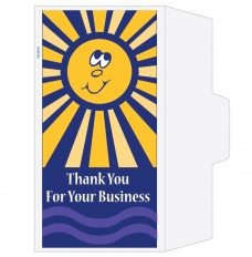 Ready-to-Ship Drive Up Envelopes - Thank Your For Your Business - Sunshine