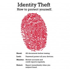 Pre-Designed Drive Up Envelope - Identity Theft - Thumbprint