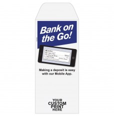 Ready-to-Ship Drive Up Envelopes - Bank On The Go - Phone - w / 1 Color Custom Print