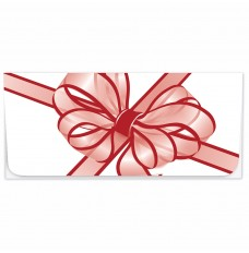 Exclusive Holiday Currency Envelopes - Red Tulle Bow
