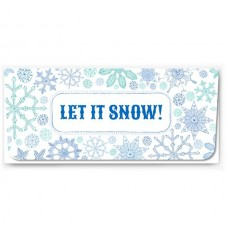 Exclusive Holiday Currency Envelopes - Let It Snow - Snowflakes