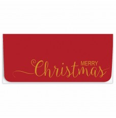 Exclusive Holiday Currency Envelopes - Merry Christmas - Red with Gold Text