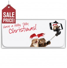 Exclusive Holiday Currency Envelopes - Holly, Jolly Christmas - Cat Selfie