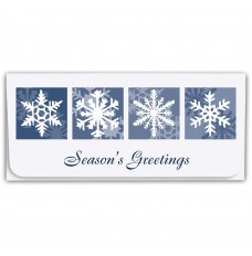 Holiday Currency Envelopes - Seasons Greetings - Four Snowflakes