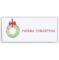 Holiday Currency Envelopes - Merry Christmas - Wreath of Symbols