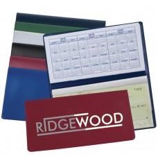 2 Color Custom Printed Checkbook Cover