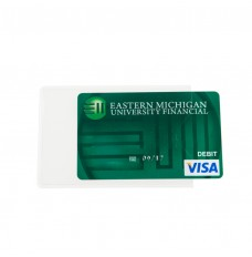 Clear vinyl ATM jacket, 2-½x3-9/16 w/thumb cut notch ATM