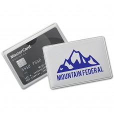 Single Pocket Credit Card Cover w/ 1 Color Custom Print