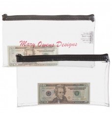 10-1/2W x 5-1/2H Clear Vinyl Zipper Bag Made-to-Order