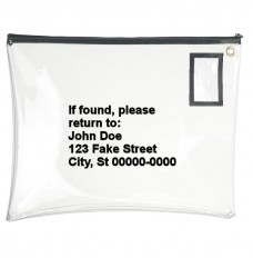 22W x 19H Clear Vinyl Large Zipper Bags - Made to Order