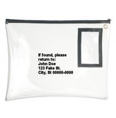 12W x 9H Clear Vinyl Large Zipper Bag - Custom Imprinted