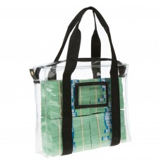 14W x 11H x 3D Clear Vinyl Bag w/Handles - Made to Order
