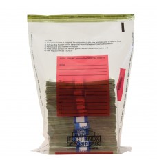10W x 14H Clear Deposit Bags w/Red Writing Block - Case of 500