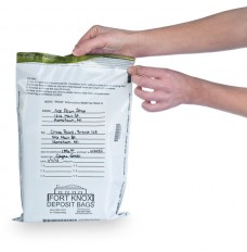 9W x 12H White Tamper Evident Deposit Bags