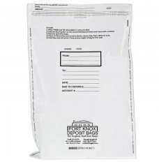 20W x 30H White Deposit Bag w/External Pocket - 100/BX