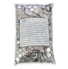 Jetsort Coin Bags with White Block - 9W x 14H - Case of 500