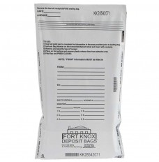 9W x 12H White Value Deposit Bags - Pack of 100