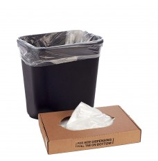 24W x 24H - Clear Trash Can Liner - 7-10 Gallon