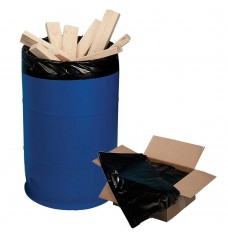 38W x 60H - Black Trash Can Liner - 55-60 Gallon