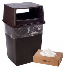 43W x 48H - Clear Trash Can Liner - 56 Gallon