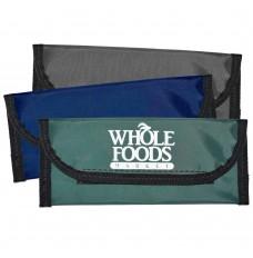 9W x 4H Laminated Nylon Bag w/Hook & Loop Closure - Made to Order