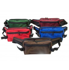 9W x 5H x 4D Large Belt Bag w/2 Zippered Pockets, 1000D Nylon - Made to Order