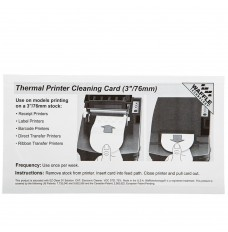 Thermal Printer Waffletechnology® Cleaning Card (3in/76mm)