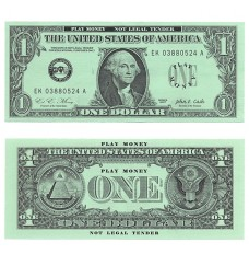 Play Money - Realistic One Dollar Bills - 100/pk