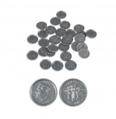 Play Money Coins - Realistic Dimes - 100/pk
