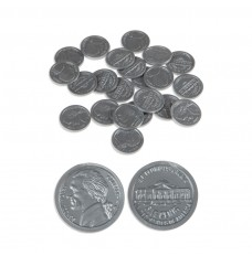 Play Money Coins - Realistic Nickels - 100/pk