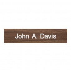 10W x 2H Nameplate with 1 Line of Copy