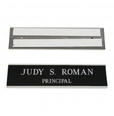 Wall Nameplate With Frame - 10W x 2H - 2 Line