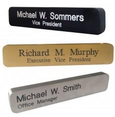 Solid Aluminum Nameplates