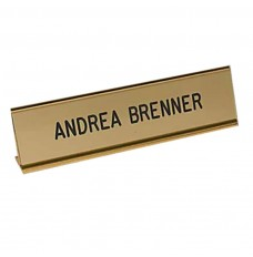 Counter Sign-Nameplate on Extruded Desk Holder
