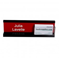 Nameplate w/Acrylic Business Card Holder