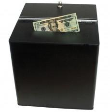 Black ABS Countertop Tip Box - 12W x 12H x 12D
