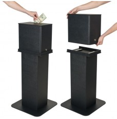 Black Detachable Tip Box with Floor Mount Pedestal