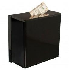 Black Wall Mount Tip Box - 12W x 12H x 6D with mounting bracket