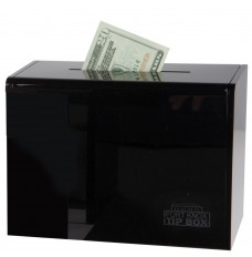 Black Countertop Tip Box - 7-3/4W x 5-5/8H x 4-1/4D