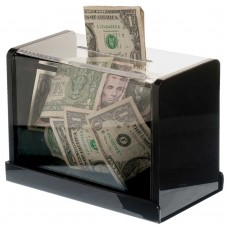 Clear Counter Mount Tip Box - 7-3/4W x 6H x 4-1/4D with mounting bracket