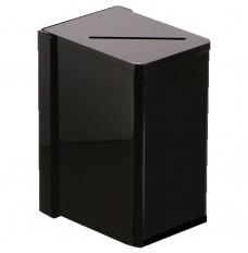 Black Wall Mount Tip Box - 4-1/4W x 7-3/4H x 6D with mounting bracket