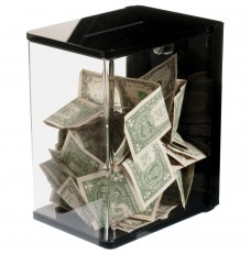 Clear Wall Mount Tip Box - 6W x 10H x 8D with mounting bracket