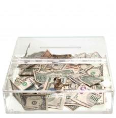 Clear Countertop Tip Box - 12W x 3H x 12D