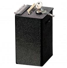 Black ABS Countertop Tip Box - 4W x 6H x 3-1/2D